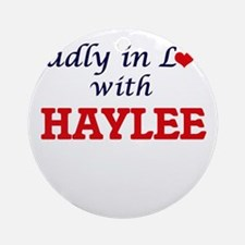 Madly in Love with Haylee Round Ornament