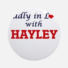 Madly in Love with Hayley Round Ornament