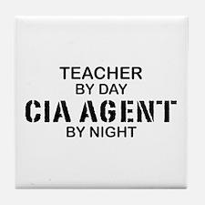 Teacher CIA Agent Tile Coaster
