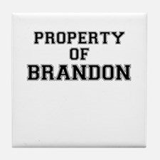 Property of BRANDON Tile Coaster