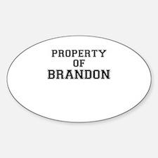 Property of BRANDON Decal