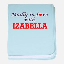 Madly in Love with Izabella baby blanket