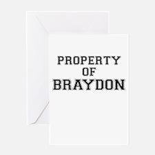 Property of BRAYDON Greeting Cards