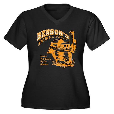 Benson's Animal Farm Women's Plus Size V-Neck Dark