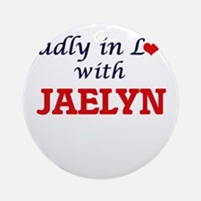 Madly in Love with Jaelyn Round Ornament