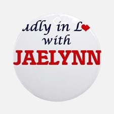 Madly in Love with Jaelynn Round Ornament
