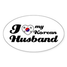 I love my Korean Husband Oval Decal
