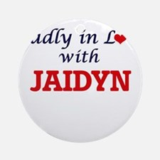 Madly in Love with Jaidyn Round Ornament
