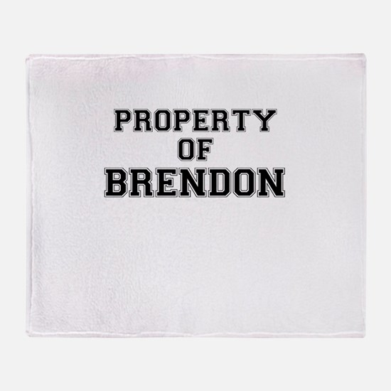 Property of BRENDON Throw Blanket