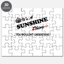 SUNSHINE thing, you wouldn't understand Puzzle