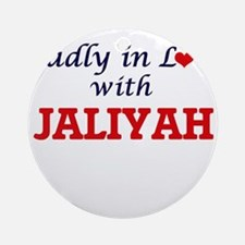 Madly in Love with Jaliyah Round Ornament