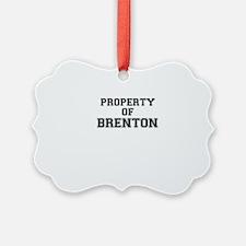 Property of BRENTON Ornament