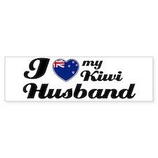 I love my Kiwi husband Bumper Bumper Sticker