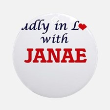 Madly in Love with Janae Round Ornament