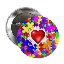"""Love Breaks Thru 2.25"""" Button"""
