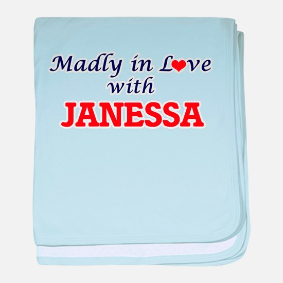 Madly in Love with Janessa baby blanket