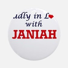 Madly in Love with Janiah Round Ornament