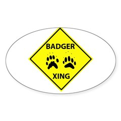 Badger Crossing Oval Decal
