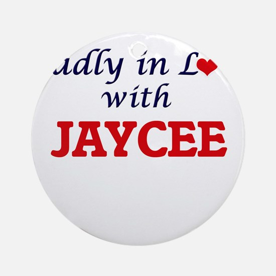 Madly in Love with Jaycee Round Ornament
