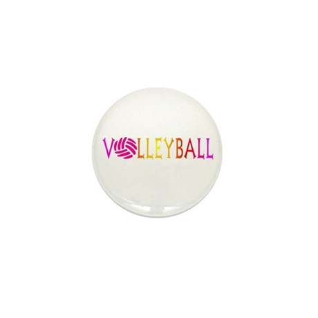 Volleyball 1 Mini Button (10 pack)