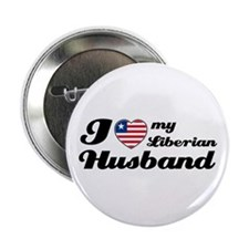 "I love my Liberian Husband 2.25"" Button"