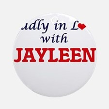 Madly in Love with Jayleen Round Ornament