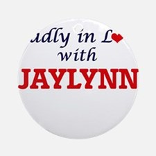 Madly in Love with Jaylynn Round Ornament
