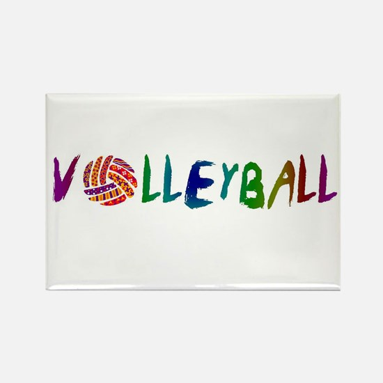 Volleyball 2 Rectangle Magnet (10 pack)