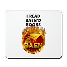 I Read Baen'd Books Mousepad
