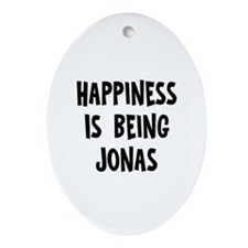 Happiness is being Jonas Oval Ornament