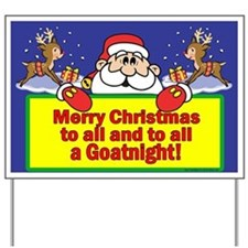 GoatNight Yard Sign