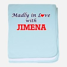 Madly in Love with Jimena baby blanket