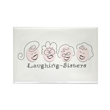 Laughing-Sisters Rectangle Magnet (10 pack)