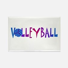 Volleyball 4 Rectangle Magnet