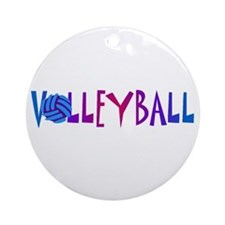 Volleyball 4 Ornament (Round)