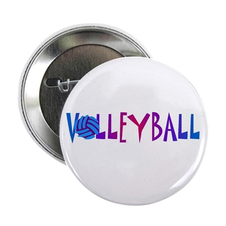 "Volleyball 4 2.25"" Button (10 pack)"