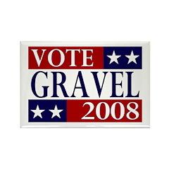 Vote Gravel 2008 Rectangle Magnet