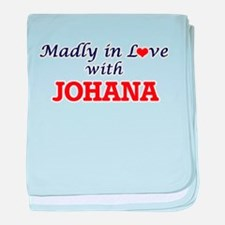 Madly in Love with Johana baby blanket