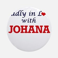 Madly in Love with Johana Round Ornament