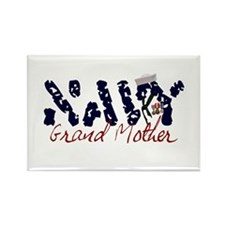 Navy Grandmother Rectangle Magnet