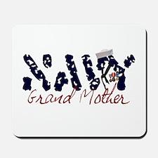 Navy Grandmother Mousepad