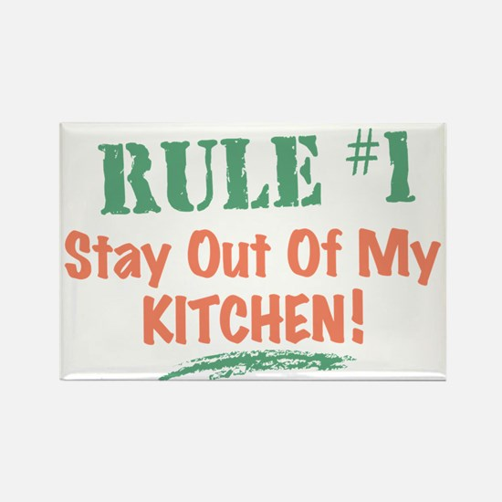 Kitchen Cook Rules Rectangle Magnet