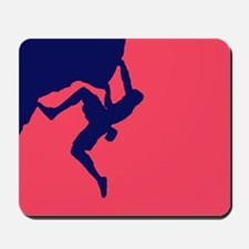 RED BLUE CLIMBER Mousepad
