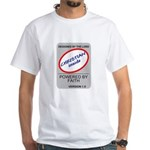 Powered By Faith Christian White T-Shirt