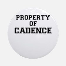 Property of CADENCE Round Ornament