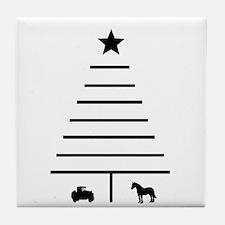 Minimalist Christmas Tree Tile Coaster