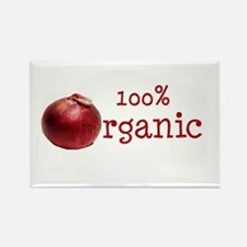 Organic Onions Rectangle Magnet