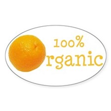 Organic Oranges Oval Decal