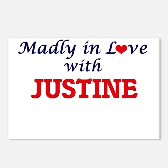 Madly in Love with Justin Postcards (Package of 8)