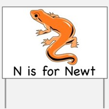N is for Newt Yard Sign